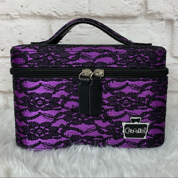 Caboodles Other - Caboodles Floral Lace Travel Make-up Cosmetic Case